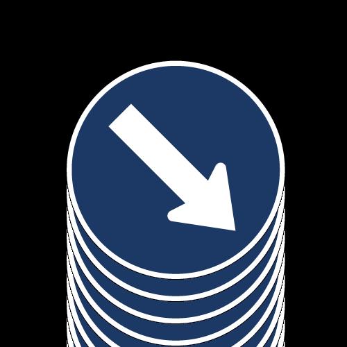 EST14 letrero direccion obligada 50x50 cms