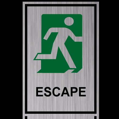 GS13 placa grabada escape derecha