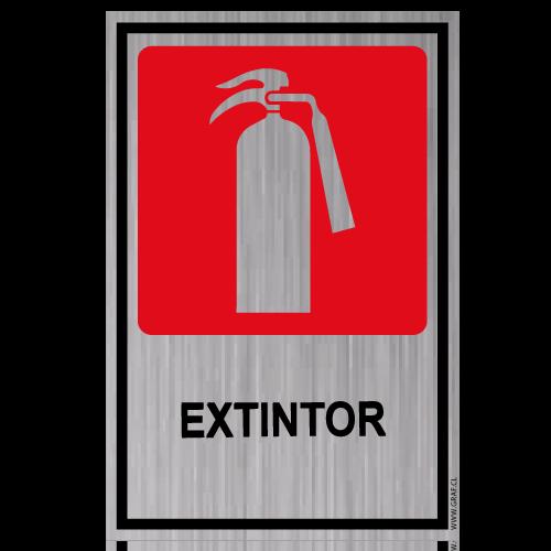 GS20 placa grabada extintor
