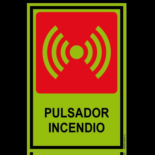 SF07 placa fotoluminiscente pulsador de incendio
