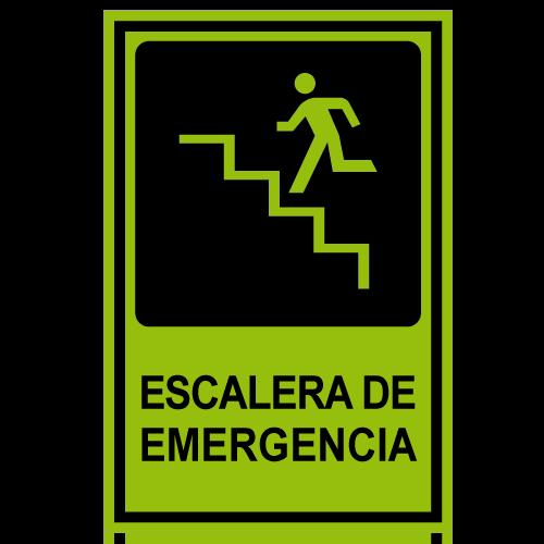 SF12 placa fotoluminiscente escalera de emergencia subiendo izquierda