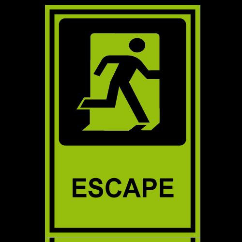 SF13 placa fotoluminiscente escape derecha