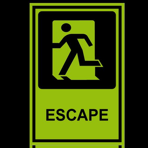 SF14 placa fotoluminiscente escape izquierda