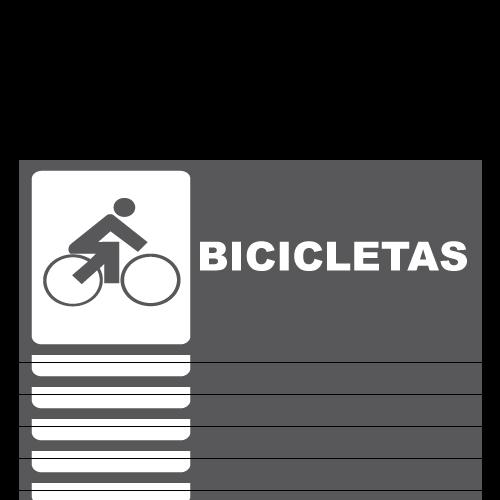 SS12 placa sintra impreso sala de bicicletas