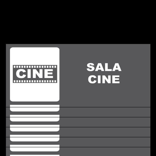 SS17 placa sintra impreso sala de cine