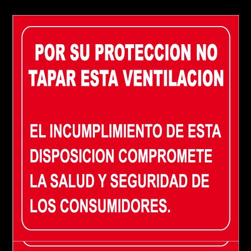 SS21 placa sintra impreso no tapar esta ventilacion